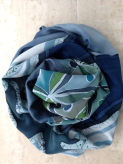 Male Crepe painted scarf - 2013